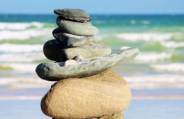 stones by the seashore serenity